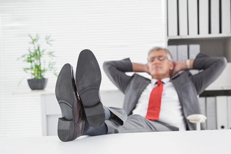 Geldanleger ist entspannt