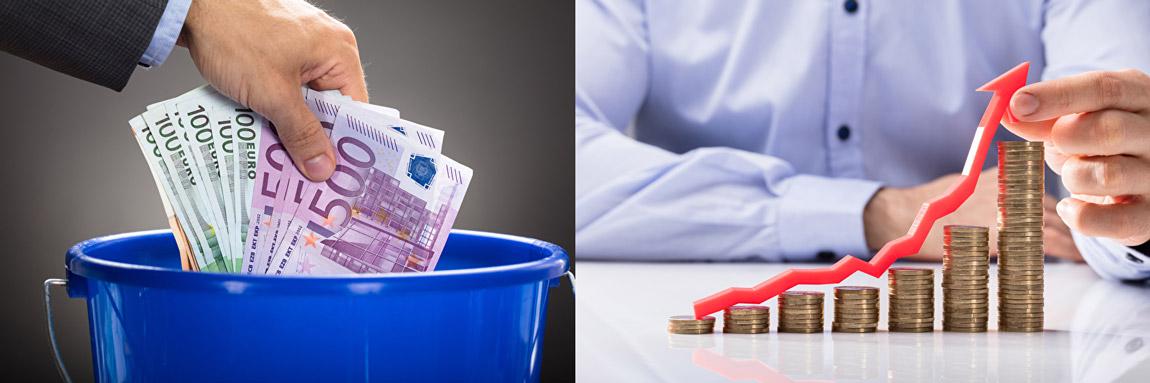 Geld verlieren oder Vermögen ansparen