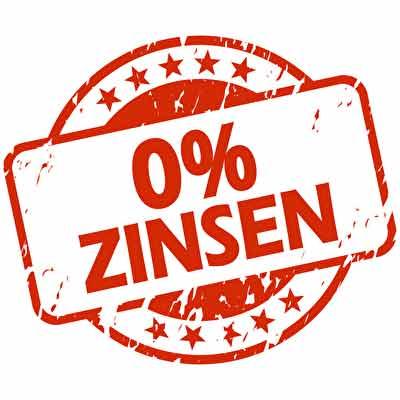 Stempel 0 % Zinsen