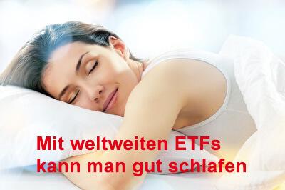 ETF Anleger kann gut schlafen