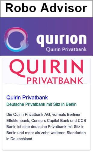Robo Advisor Quirion gehört zur Quirinbank