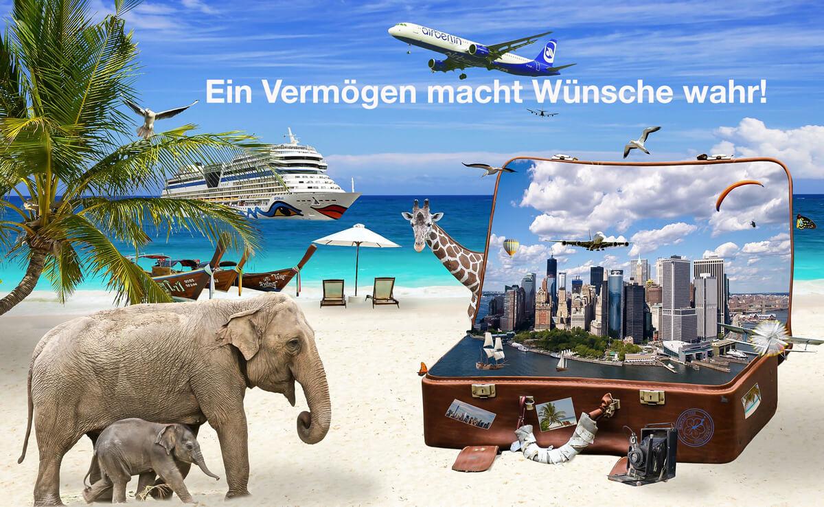 Geld anlegen für eine Weltreise